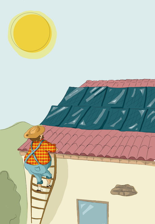visita una instal·lació de plaques solars